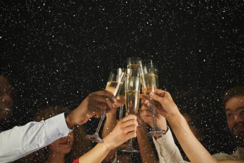 Champán fiesta vino