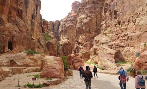 Ciudad rosada de Petra, Jordania