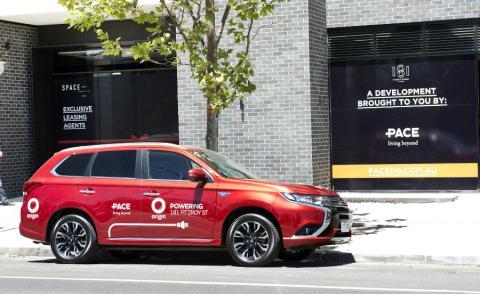 Un coche eléctrico anuncia los nuevos servicios de Origin Energy