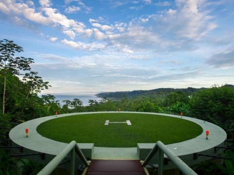 This Costa Rica property has its own helipad.