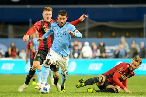 David Villa, en un partido con New York City FC