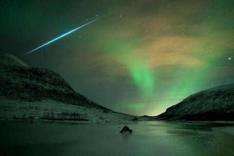 A Geminid meteor shower.