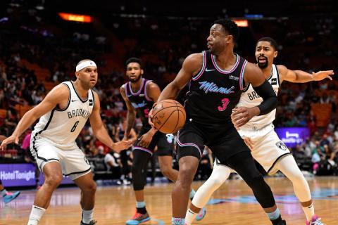Dwyane Wade, en un partido con los Heat