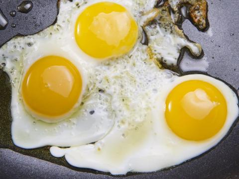 Eggs are low-calorie and high-protein.