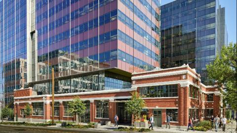 Fachada del complejo Troy Block, en Seattle (EE.UU.)