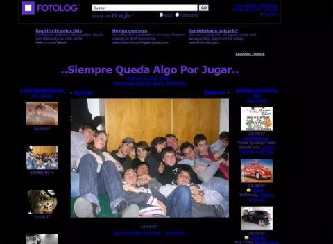 Así era un perfil de Fotolog