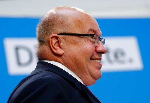 German Economy Minister Peter Altmaier arrives for a news conference of German Chancellor Angela Merkel following the Hesse state election in Berlin, Germany, October 29, 2018.