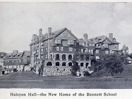 Halcyon Hall in Millbrook, New York was built as a luxury hotel in 1893 and became part of Bennett College in 1907. The women's college closed down in 1978.