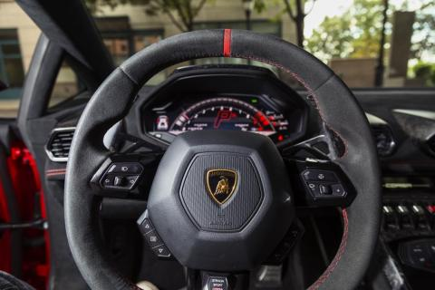 I tend to feel pretty comfortable behind the wheel of a Lambo. These cars can be crazy. But the Huracán is fairly pleasant to drive when you aren't in full-on go-fast mode. The transmission is a banging seven-speed dual-clutch