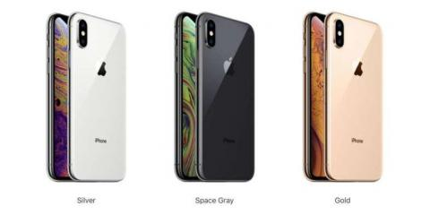 The iPhone XS comes in more colors.