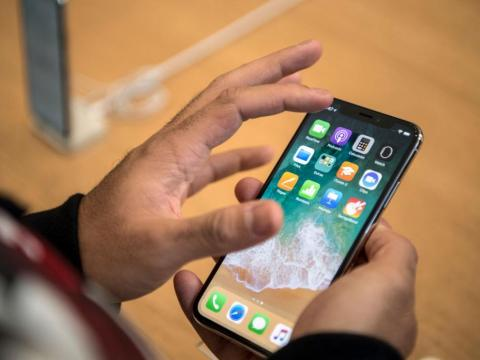 The iPhone XS is just a tiny bit heavier than the iPhone X.