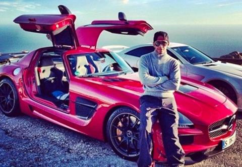 It can't be all Pagani, McLaren, or Ferrari, though. Hamilton does drive for Mercedes, after all, so it's no surprise that he owns a Mercedes SLS AMG, a car he acquired in 2014. Obviously, this isn't a standard SLS. It has an