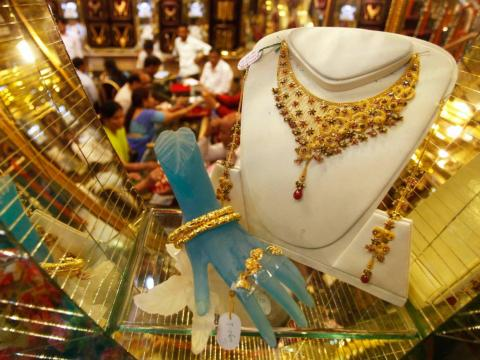 It's considered a sign of good fortune to purchase gold during Diwali.