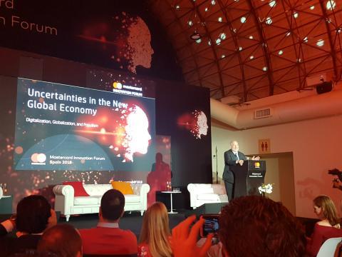 Joseph Stiglitz, en su intervención en el Mastercard Innovation Forum
