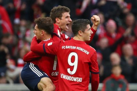 Jugadores del Bayern celebran un gol