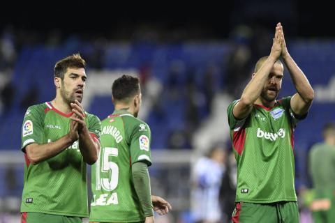 Jugadores del Deportivo Alavés