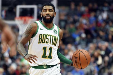 Kyrie Irving, durante un partido con los Celtics