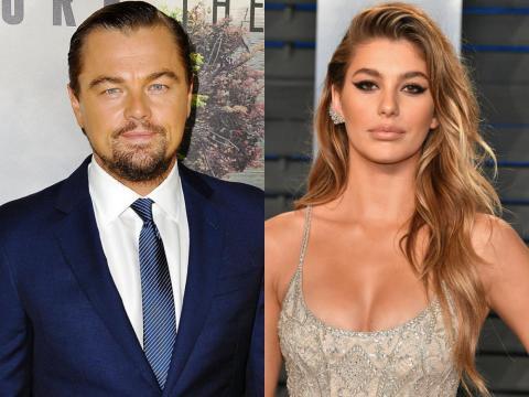 Leonardo DiCaprio en 2016 y Camila Morrone en 2018.