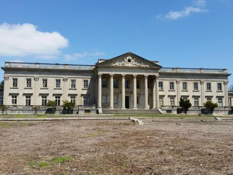 Lynnewood Hall, a 110-room, century-old Gilded Age palace just outside of Philadelphia, was designed by Horace Trumbauer in the late 1890s.