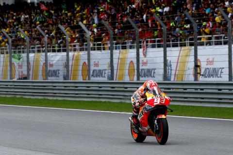 Márquez, durante el GP de Malasia 2018