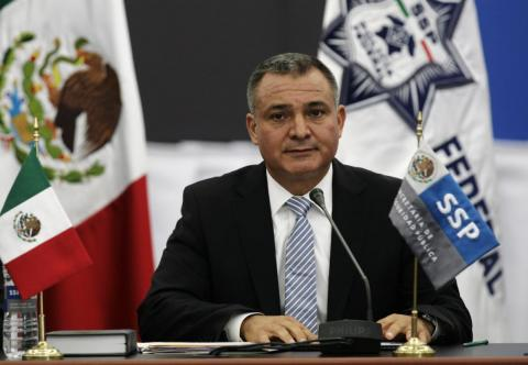 Mexican Public Security Minister Genaro Garcia Luna at a meeting with public-security secretaries in Mexico City, September 7, 2011.
