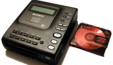 Así era el MiniDisc de Sony