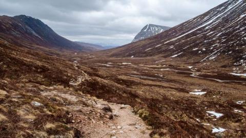 Montaña en Escocia