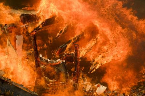 El incendio de Woolsey arrasó varias mansiones en Malibú, California.