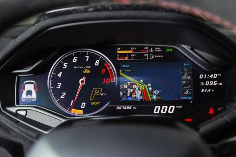 The navigation renderings might be small, but they're detailed and accurate. The system provides Bluetooth connectivity, as well as USB/AUX ports. You don't really miss a big touchscreen interface.