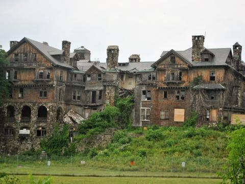 The now-decrepit mansion was purchased in 2014 with plans to demolish it and replace it with a park.