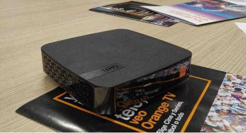 El nuevo descodificador de Orange TV.