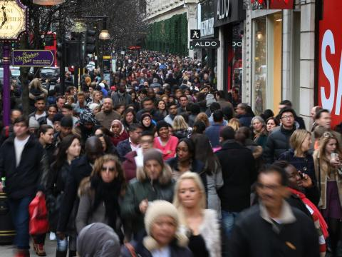 "One American tourist shopping in the UK on Boxing Day even told The Mirror that the scene was ""really a madhouse compared to the United States. I don't think we have this at all."""