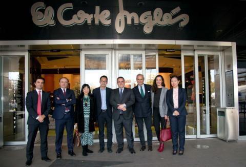 Representantes de Alibaba visitan El Corte Inglés