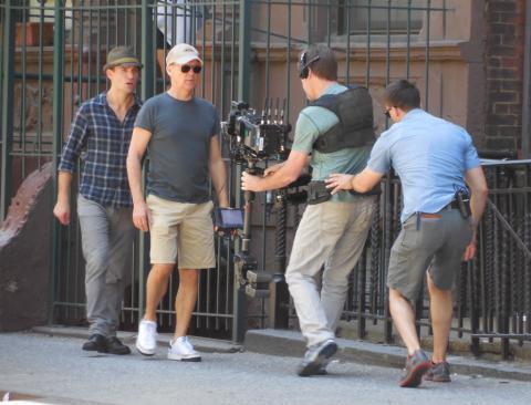 Rodaje de Birdman, con Michael Keaton