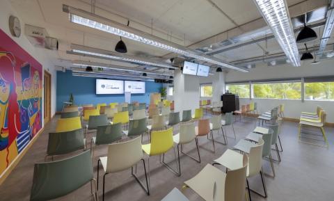 La sala principal del espacio Zona from Facebook, en el paseo de la Castellana de Madrid.