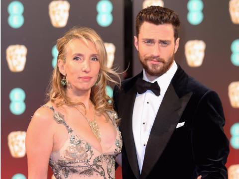 Sam y Aaron Taylor-Johnson en los premios BAFTA 2017.