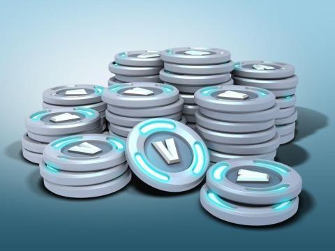 Las monedas virtuales V-bucks de Fortnite.