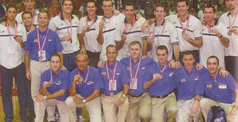 La Selección Española celebra el bronce en Turquía 2001