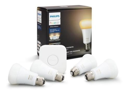Un conjunto de bombillas inteligentes que pueden controlar de forma remota y proporcionar ambiente [RE]