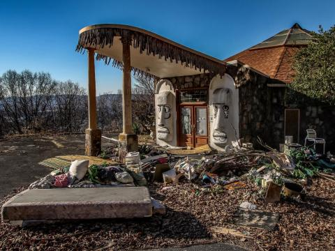 "This ""Swingers Tiki Palace,"" as it was dubbed by one photographer, in Chattanooga, Tennessee, was built in 1972 by strip-club tycoon Billy Hull to be the ultimate party palace."