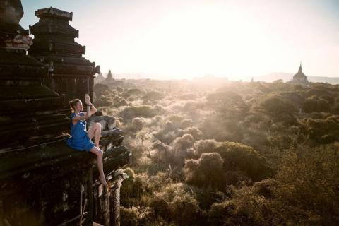 Templo en Burma