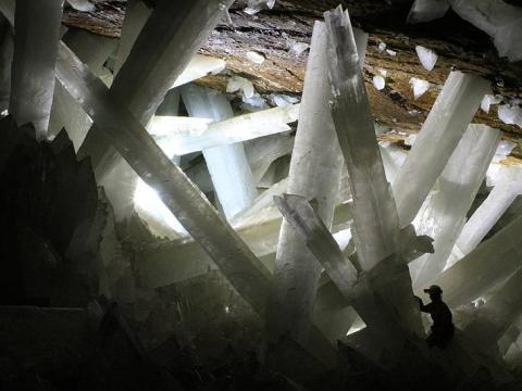 Algunos de los cristales tienen más de 27 metros de largo y 1,5 metros de ancho.
