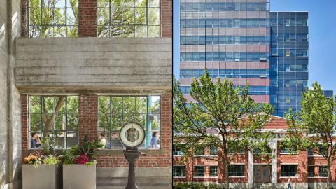 Troy Blocks ha sido construido respetando algunos elementos arquitectónicos de los edificios sobre los que se levantó el complejo