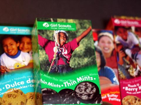 Las famosas galletas que venden las 'Girl Scouts'.