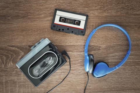 Walkman con cassette