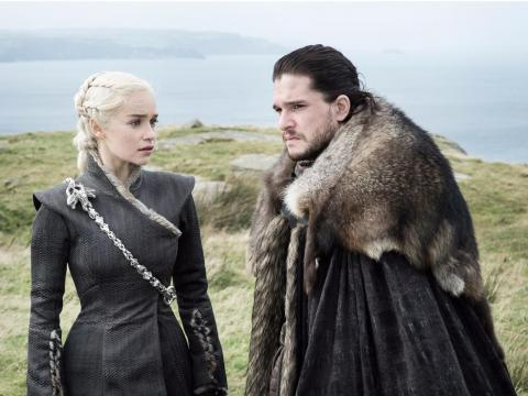 Emilia Clarke and Kit Harington star on the series.