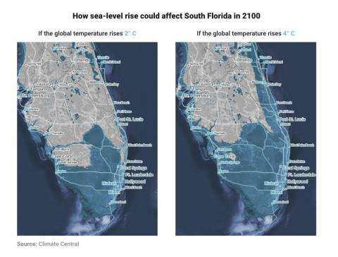 The world's coastlines may be unrecognizable by 2100, even with moderate sea-level rise.