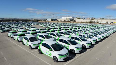 Zity car-sharing flota