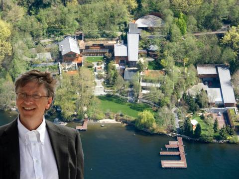 19 crazy facts about Bill Gates' $127 million mansion