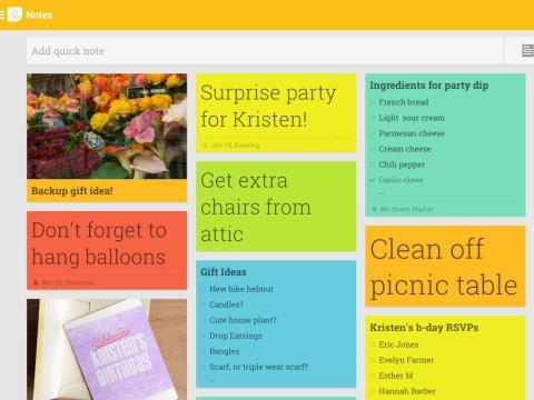 Google Keep: notas y listas.